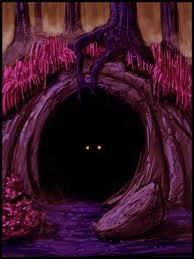 dark cave eyes