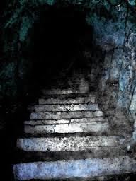 down into dark