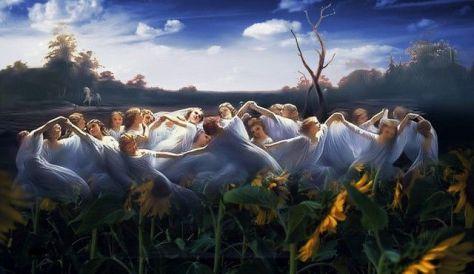 Goddesses dancing