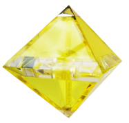 yellow octohedron