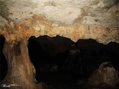dark scary cave